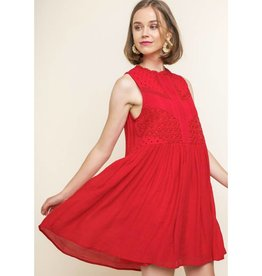 Stuck On Me Dress- Red