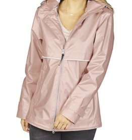CHARLES RIVER New Englander Rain Jacket W/Print Lining- Rose Gold