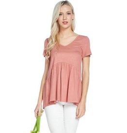 All Ruffled Up Blouse- Light Brick