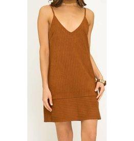 Time To Shine Dress- Caramel