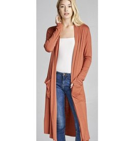 Always Need You Cardigan- Terracotta