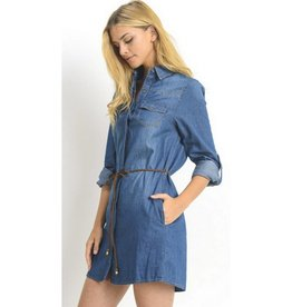 Who Knew Denim Dress- Dark Wash