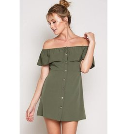 In Your Dreams Dress- Olive