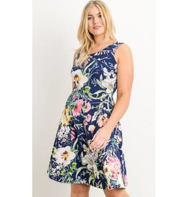 Miracles Can Happen Dress- Navy