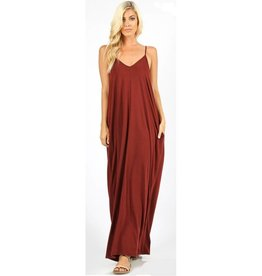 A Lively Love Maxi Dress - Fired Brick