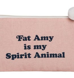 Canvas Cosmetic Bag- Fat Amy