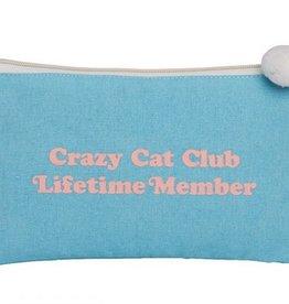 Canvas Cosmetic Bag- Crazy Cat Club