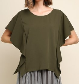 Keep It Classy Top- Olive
