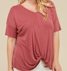 Promise Me This Top- Marsala