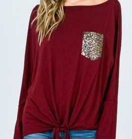 Chasing Perfection Top- Burgundy