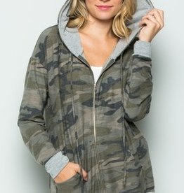 Crazy For Camo Hoodie Jacket- Camo