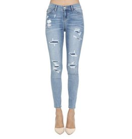 Patch Things Up Skinny Jean- L. Blue