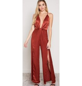 What A Darling Jumpsuit- Rust