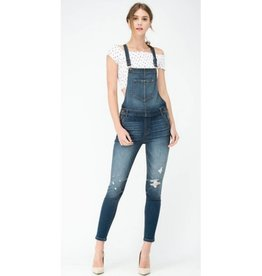 Nothing Else Matters Overalls- Medium Dark Denim