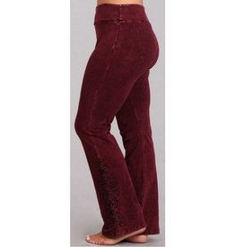 Believe It Or Not Pants- Burgundy