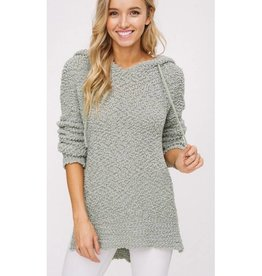 As You Are Pullover Sweater- Light Olive