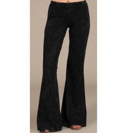 Nine To Five Bell Bottom Pants- Black