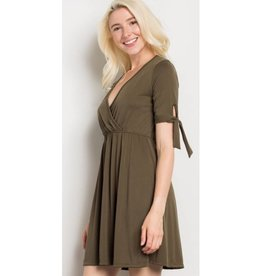 Head Over Heels Dress- Olive
