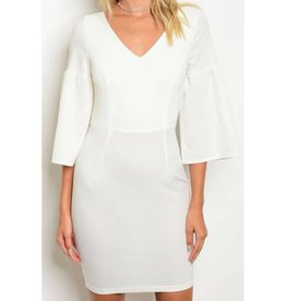 Better Than A Dream Lace-Up Dress - Ivory