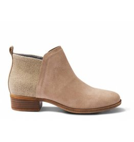 TOMS Womens Deia Bootie- Taupe Suede