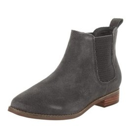 TOMS Women's Suede Ella Bootie- Forged Iron Grey