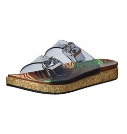 NAUGHTY MONKEY Clear Mind Sandal- Black