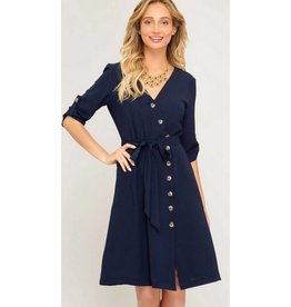Easy Romance Dress- Navy