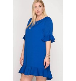 Be Productive Dress- R. Blue