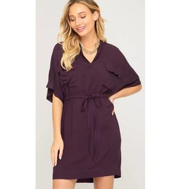 Reason For Love Dress- Eggplant