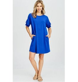 Plenty Of Fish In The Sea Dress- Royal Blue