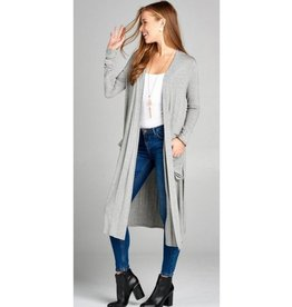 Always Need You Cardigan- Heather Grey