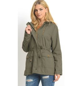 Play By Your Own Rules Utility Jacket- Olive