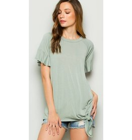 What A Dreamer Top- Sage