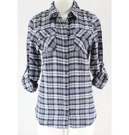 Comfort Prevails Plaid Shirt- Black/Grey