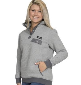 QUILT-PULL-HEATHER GREY