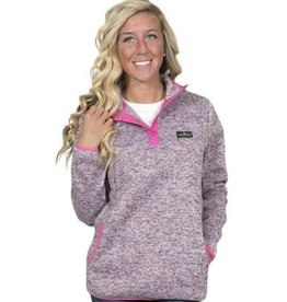 Simply Southern Pullover - Pink Heather