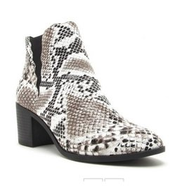 Your Poison Booties- Black/White