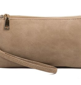 The Riley Wristlet/Crossbody- Taupe