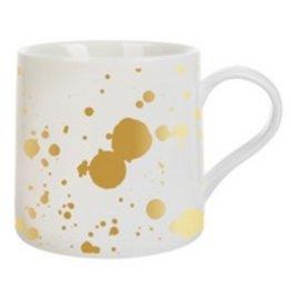 20oz Girlfriend Mug Jumbo- Gold Paint Splatter