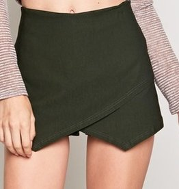 Off She Goes Skort - Olive