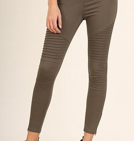 Life Long Moto Jeggings - Olive