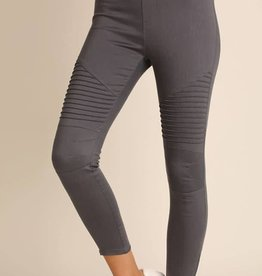 Life Long Moto Jeggings - Charcoal