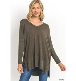 Won't Change My Heart Sweater- Olive