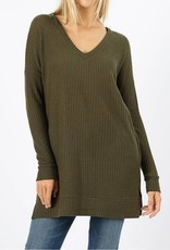 All The Info You Need Sweater- Dark Olive