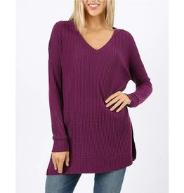 All The Info You Need Top- Dark Plum