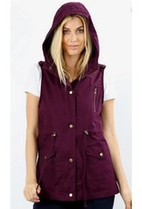 Never Been Better Vest- Dark Plum