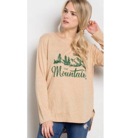 Take Me To The Mountains Top- Mustard/Green