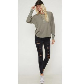 Journey To Perfection Top- Olive