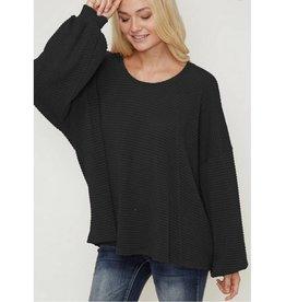 Endless Optimism Sweater- Black
