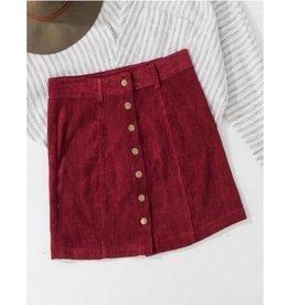 Keeping It Classic Mini Skirt- Wine